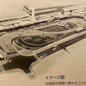JR土岐市駅前の農協ビル解体中。7月21日より停車場が利用不可になります。