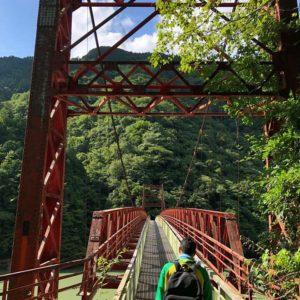 瑞浪市日吉町 秘境で酷道の深沢峡  五月橋 を渡ってきました。決してお子様にもお勧めしない夏の冒険。新丸山ダム完成までに行けて良かった。