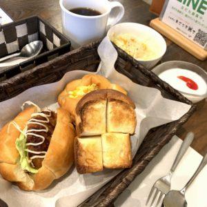 米粉を使ったもっちりパン♪cafeまごころ米てさんの一日30食限定のモーニングブランチAセットを開店と同時に食べてきました。