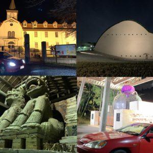 マイカーと撮れる多治見市、瑞浪市での夜ライトアップ撮影のオススメスポット。多治見修道院カトリック教会、モザイクタイルミュージアム、世界一の美濃焼こまいぬ&茶壷など4つをご紹介。