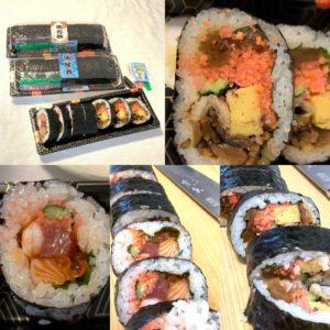 本日は節分!土岐口中町・日本料理あん堂さんの予約限定・恵方巻で福を招く。具だくさんの極太恵方巻。