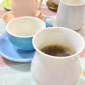 世界バリスタチャンピオンも使う、アロママグは土岐市産。ケーアイさんの独自ブランドOrigamiでモーニングコーヒーを淹れる。