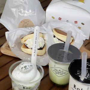 """【新店】11/9にJR瑞浪駅前にオープンしたばかりのオシャレなスウィーツ店『Tea Stand Rob』ティースタンド・ロブさんの""""パンどら""""並んで買いに行きました。京都・名古屋、そして瑞浪にオープン!?地元愛溢れる瑞浪出身の店主の情熱を感じます。"""